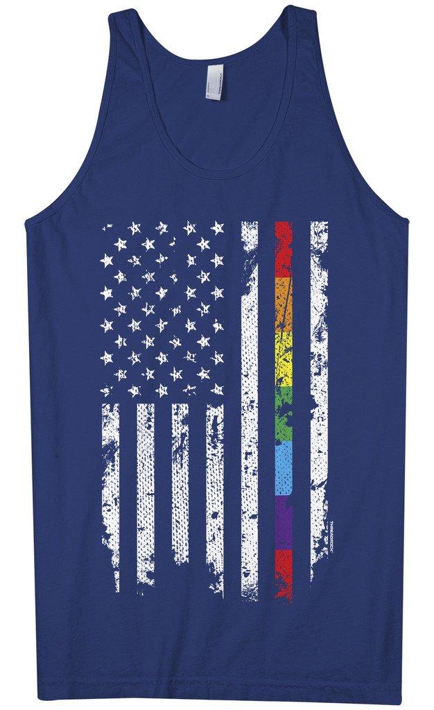 Gay Pride Rainbow American Flag Tank Top 4861 Shirts