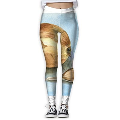 NSYGCK Onion Yoga Pants for Women Crazy Sleek-Fit Yoga Leggings