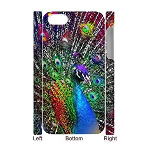 3D Bumper Plastic Case Of Peacock customized case For Iphone 4/4s