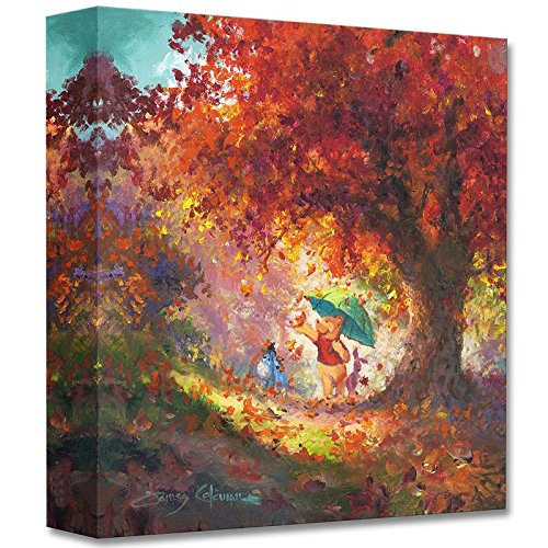 """Autumn Leaves Gently Falling"" Limited edition gallery wrapped canvas by James Coleman from the Disney Treasures collection, with COA."