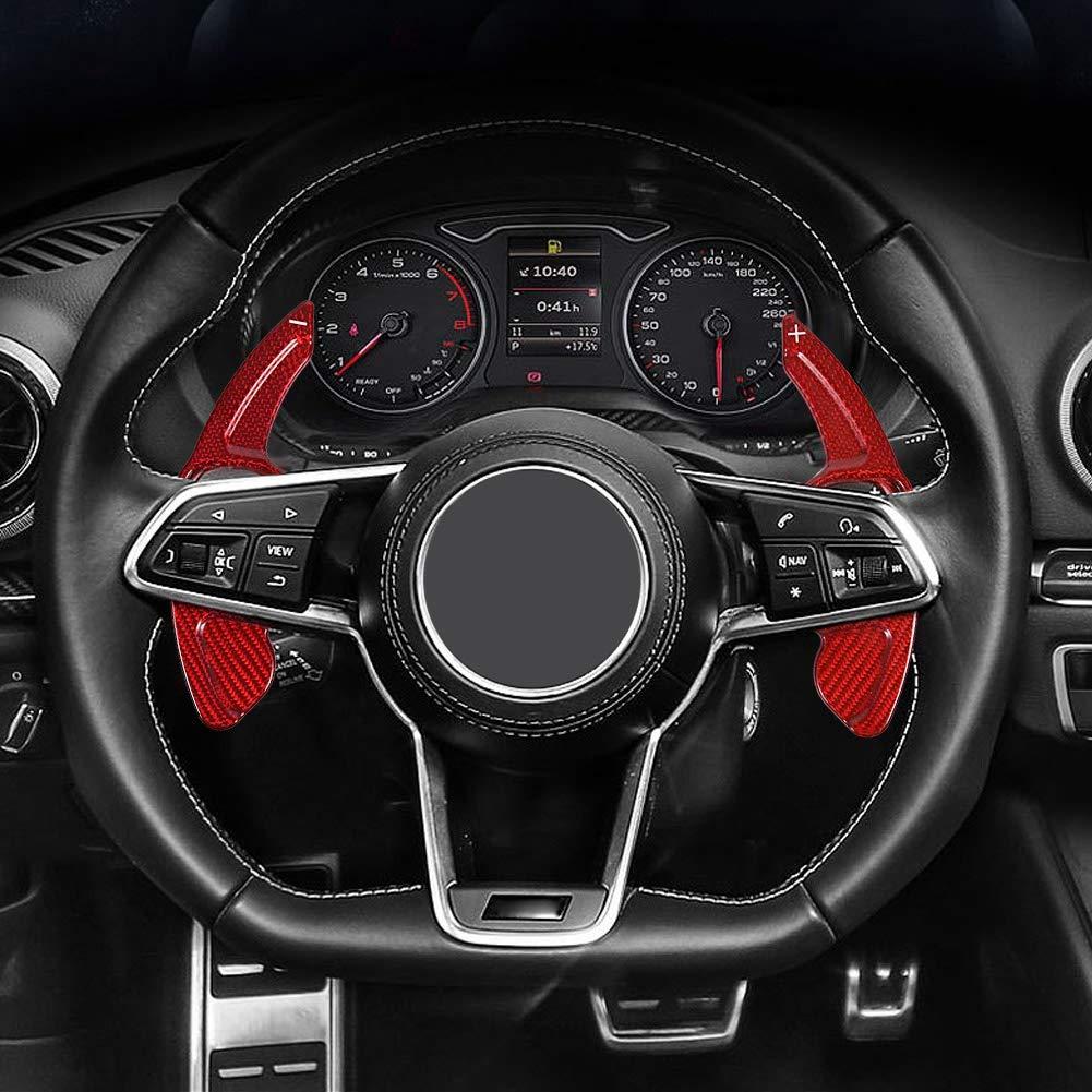 estensione della paletta per A3-A7 Q5-Q7 RS3 RS6 R8 TT TTS KIMISS Leva del cambio volante in fibra di carbonio leva del cambio