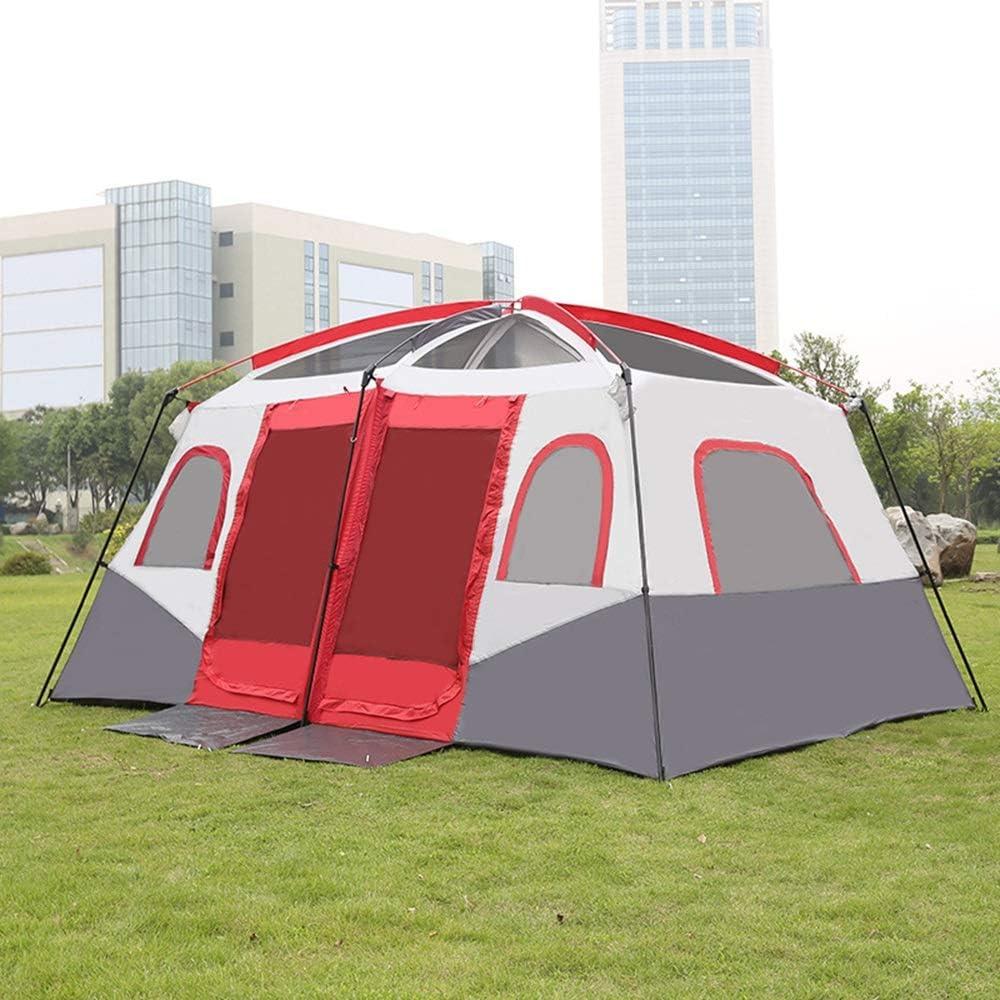 Tienda De Playa For Acampar Al Aire Libre, 1 Sala 2 Habitaciones Tienda De Campaña Tienda De Mochila con Protector Solar A Prueba De Agua Adecuado For 8-12 Personas: Amazon.es: Deportes y