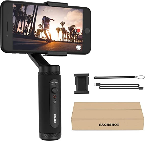 Gimbal Stabilizer for iPhone 11 Pro X XR XS Max Smartphone Vlog Youtuber Live Video Record Sport Inception Mode Face Object Tracking Motion Time-Lapse 3-Axis gyro Zhiyun Smooth Q2 (Truely Pocket Size)