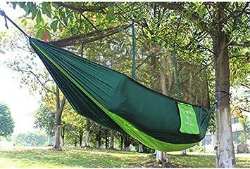 smytshop 2 person parachute hammock double wide solid outdoor patio yard camping  green  amazon     smytshop 2 person parachute hammock double wide solid      rh   amazon