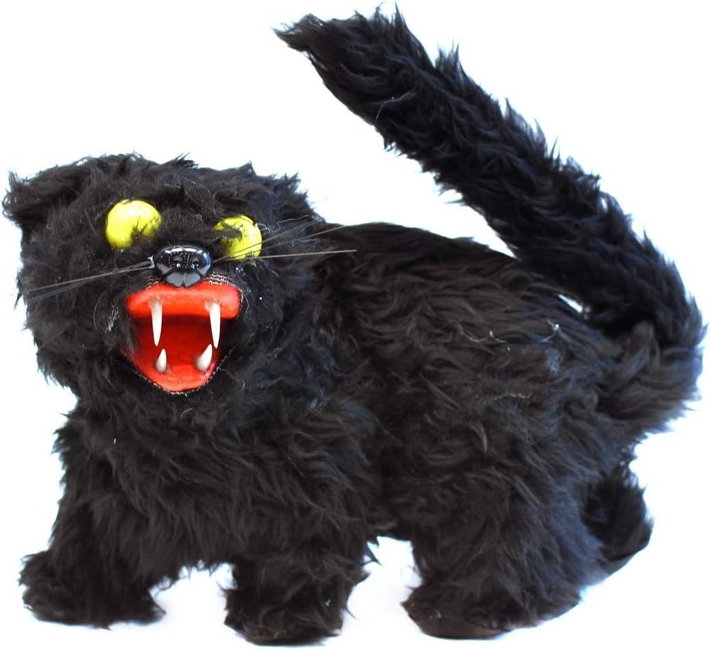 TG,LLC Treasure Gurus Stuffed Animal Black Cat Scary Halloween Decor Animated Plush Haunted House Horror Prop