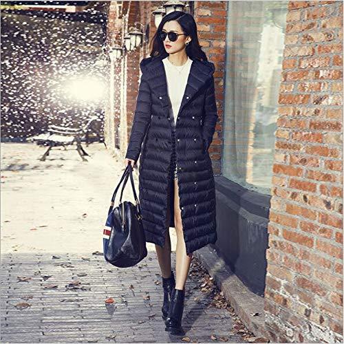 Femmes Veste Épaississement Blanc Jacket Parka Femme Down Guxiu Parkas D'hiver Slim Casual Manteau Black 9DH2EI