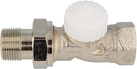 TA Heimeier Thermostat Ventilunterteil V-exakt IIAxial Rotguss vernickelt 1//2 Zoll kvs 0,86 3710-02.000