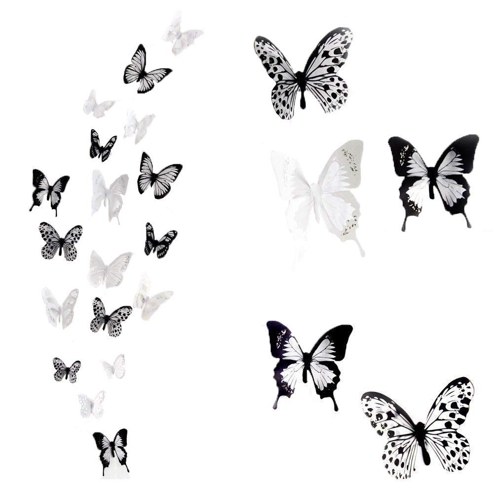 Unglaublich Wandtattoo Auf Rauputz Ideen Von Haimoburg 36er-set 3d Schmetterling Aufkleber Wandsticker Wanddeko