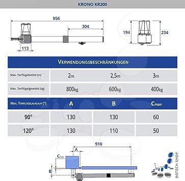 CAME KRONO A/2 Motor 230V para cancelas batientes - Kit XL: Amazon.es: Bricolaje y herramientas