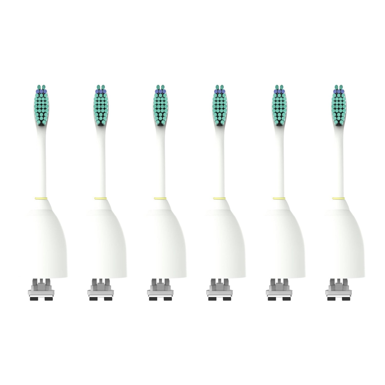 SoniForce Premium Standard Size Replacement Toothbrush Heads for Philips Sonicare e-Series HX7022, 6 pack, fits Sonicare Advance, CleanCare, Elite, Essence and Xtreme Philips Brush Handles
