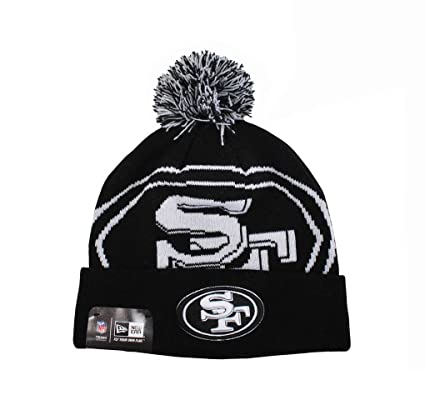 74521eb3b4b8e Image Unavailable. Image not available for. Color  New Era San Francisco  49ers Beanie Black white One Size ...