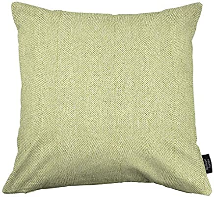 McAlister Textiles Herringbone Pillow Case| Sage Green Plush Soft Decorative Soft Brushed Textured Throw Square Scatter Sofa Cushion | Size 24 x 24 ...