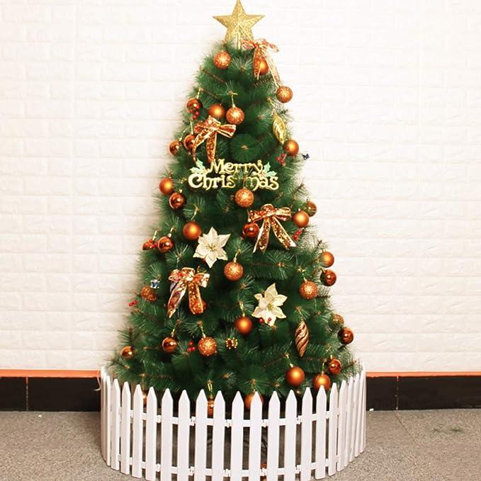 DLPY Premium Decoración Arbol De Navidad,con Luces Led &Metal Stand Abeto con Bisagras Adornos para Vacaciones Interiores-f 400cm(157inch)