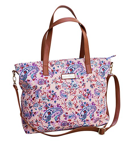 Dahlia Floral Tote Bag by White Elm | Limited Edition | Summer Beach/Pool Tote by White Elm
