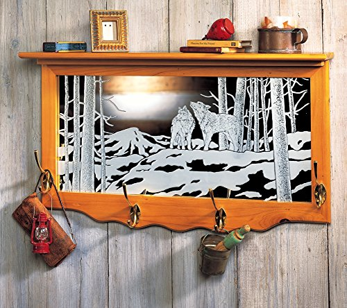 Natures Etched Glass Storage Shelf