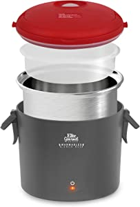 Maxi-Matic EFW-6080R Warmables Lunch Box Electric Food Warmer with Stainless Steel Pot, 32 oz, Red