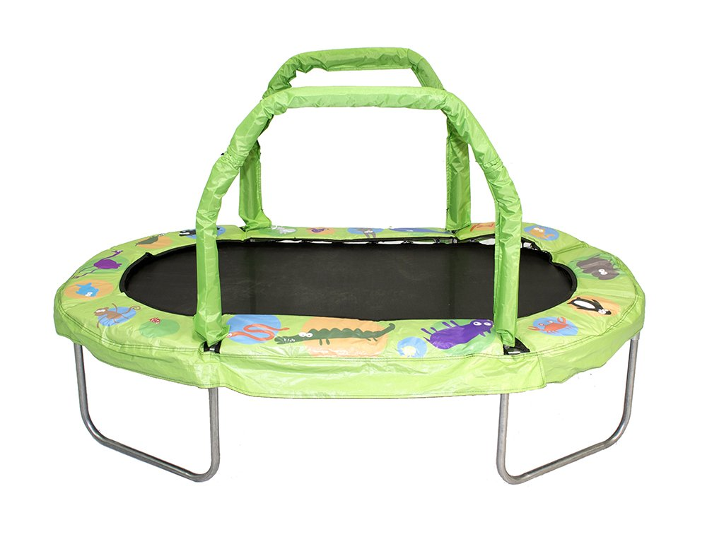 JumpKing Mini Oval Trampoline with Green Pad, 38 x 66 38 x 66 YJ (USA) Corp JK3866GN