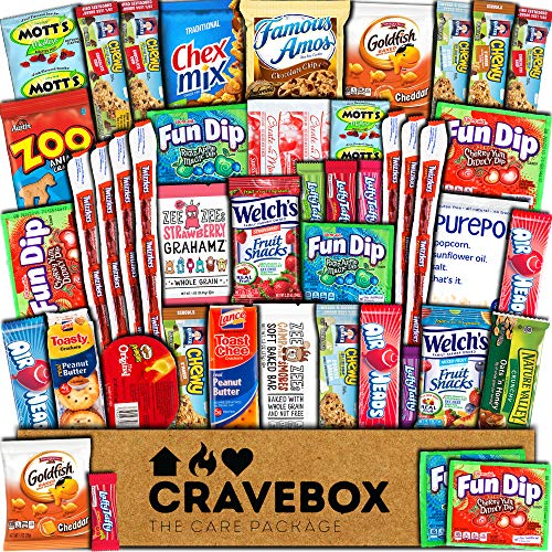 CraveBox Snacks 45 Count Ultimate Care Package Variety Box...