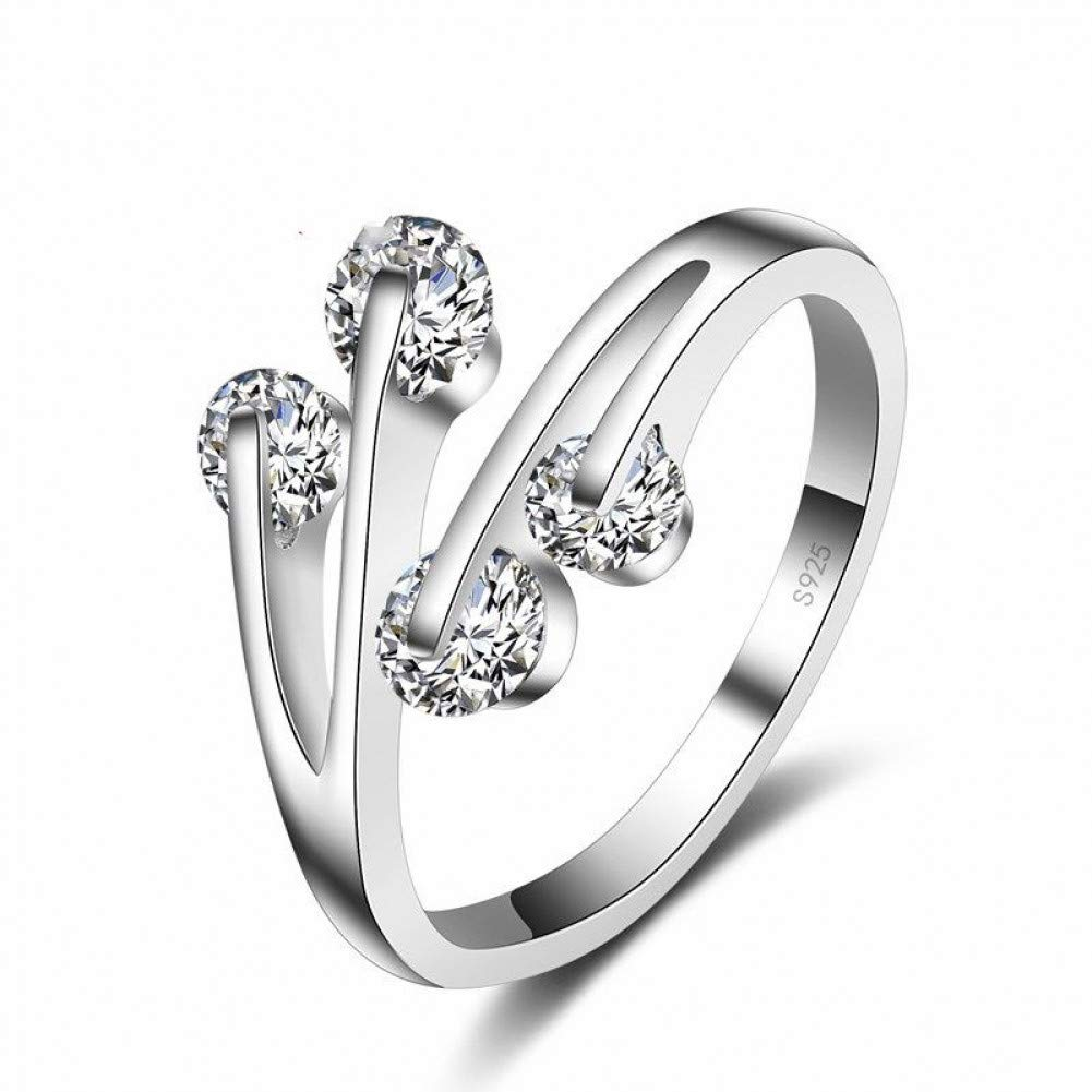 HCBYJ Lady ring 925 Sterling Silver Wedding Ring Ladies Wedding Proposal Cubic Zircon Ring Female
