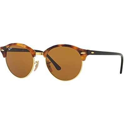 089a5d2d3f Amazon.com  Ray-Ban Round Clubmaster Sunglasses RB4246 Tortoise Frame    Brown Lenses (1160) RB4246 1160 51mm  Shoes