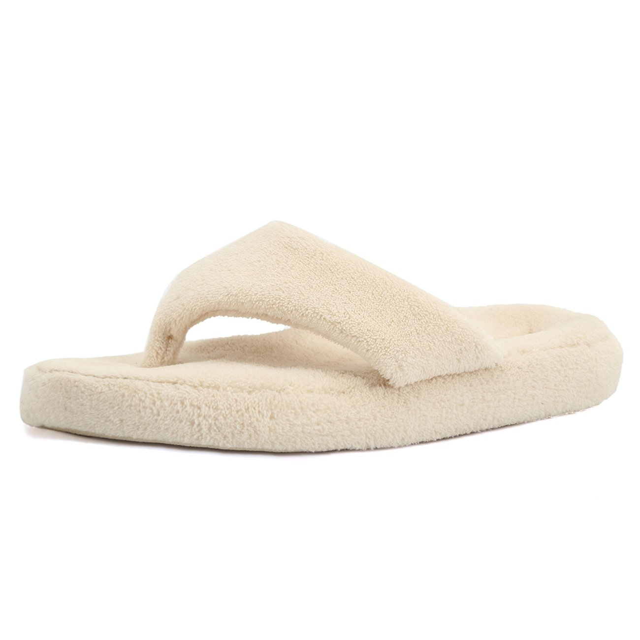 09a3259e1e07 CIOR Fantiny Women s Spa Thong Slippers Flip Flops Terry House Shoes Indoor    Outdoor
