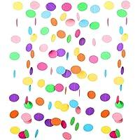 Guirnalda de Papel Guisantes Multicolores de 9 Metros