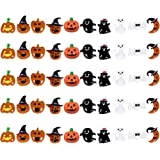 10 MIXED COLOURFUL HALLOWEEN RESIN CABOCHONS CRAFT MAKING WITCH PUMPKIN WEB