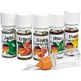 VanAnderen 5 x 10 ml E Liquids mit Nadelcapflasche für E Zigaretten Früchte Liquid Shisha E-liquid Frucht Set ohne Nikotin Apfel, Erdbeere, Kirsche, Minze, Vanille