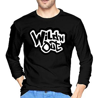 cb4abaa75e3 Amazon.com  Just789 Wild  N Out Mens Popular Long Sleeve T-Shirt ...