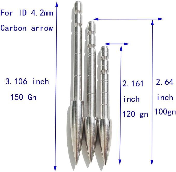12pcs Pfeilspitzen Jagdspitzen 4.2 mm Pfeilschaft Tipps Einfügen Bogenschießen