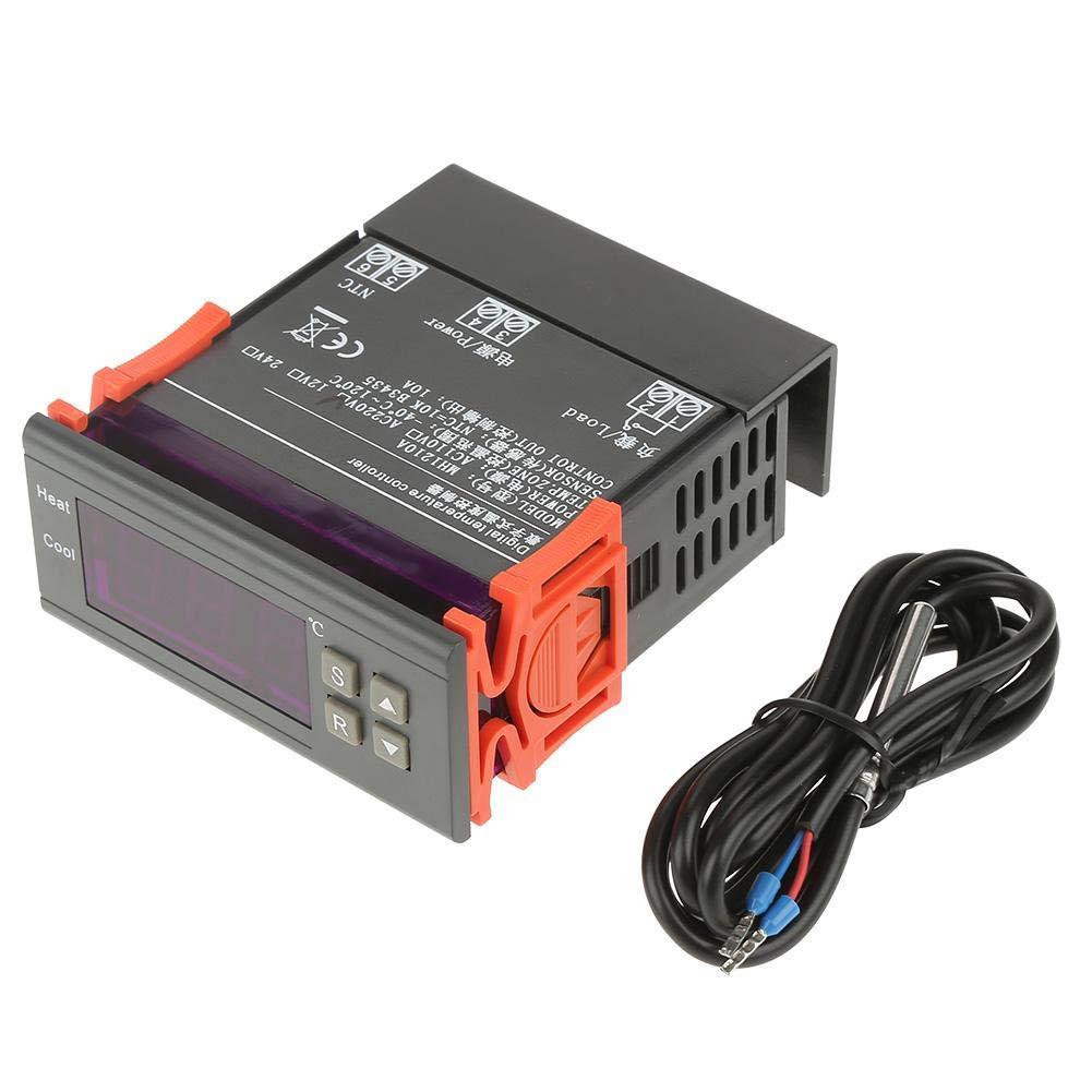 Régulateur de Température, Asixx MH1210A Mini LED Contrôleur de Température, Thermostat avec Sonde, de -40℃ à 120℃, DC24V Asixx MH1210A Mini LED Contrôleur de Température de -40℃ à 120℃