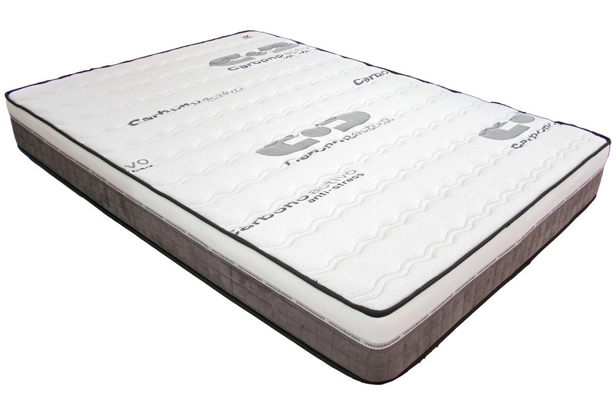 SUENOSZZZ-Colchón *Visco-Grafeno* Efecto Ionizante (Camas 135 cms) Medida 135 x 190 x Cms Color Blanco/Ceniza: Amazon.es: Hogar