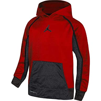 f1d21dc73fe4 Amazon.com  Nike Air Jordan Boys Jumpman Victory Therma-fit Pullover Hoodie   Clothing
