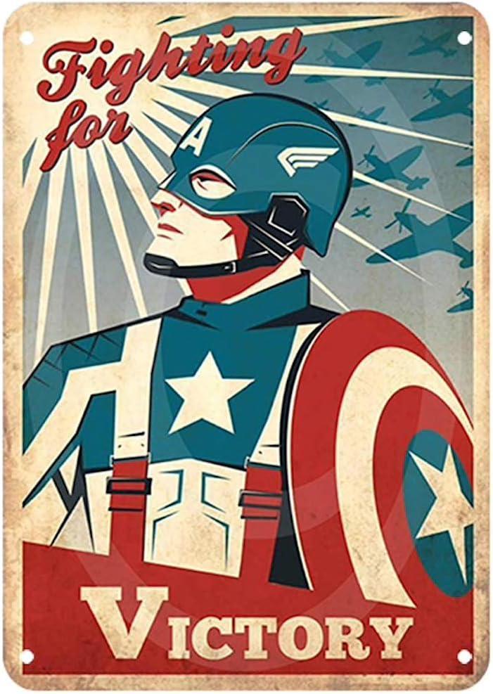 Kustom Factory Placa de acero vintage de Marvel Capit/án Am/érica