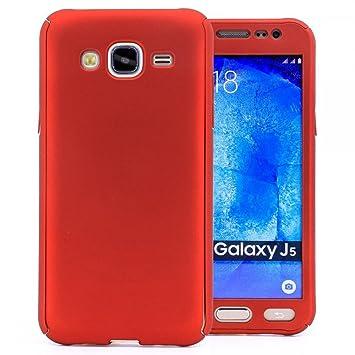 COOVY® Funda para Samsung Galaxy J5 SM-J500 SM-J500F (Model 2015) 360 Grados, Carcasa Ultrafina y Ligera, con Protector de Pantalla, protección de ...