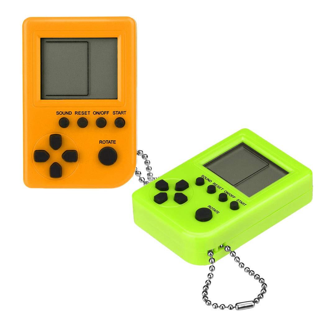 Cywulin Mini Llavero Colgante de Juego Tetris Consola de ...