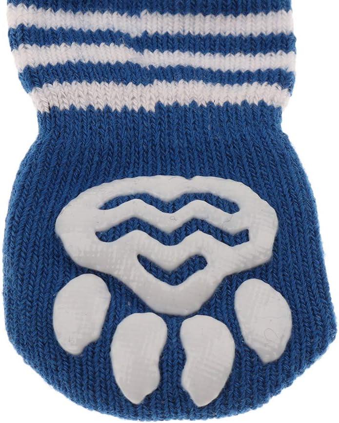 FLAMEER 2 Paare S/ü/ße Haustier Socken Pfotenschutz Anti-Rutsch Hundesocken f/ür Indoor