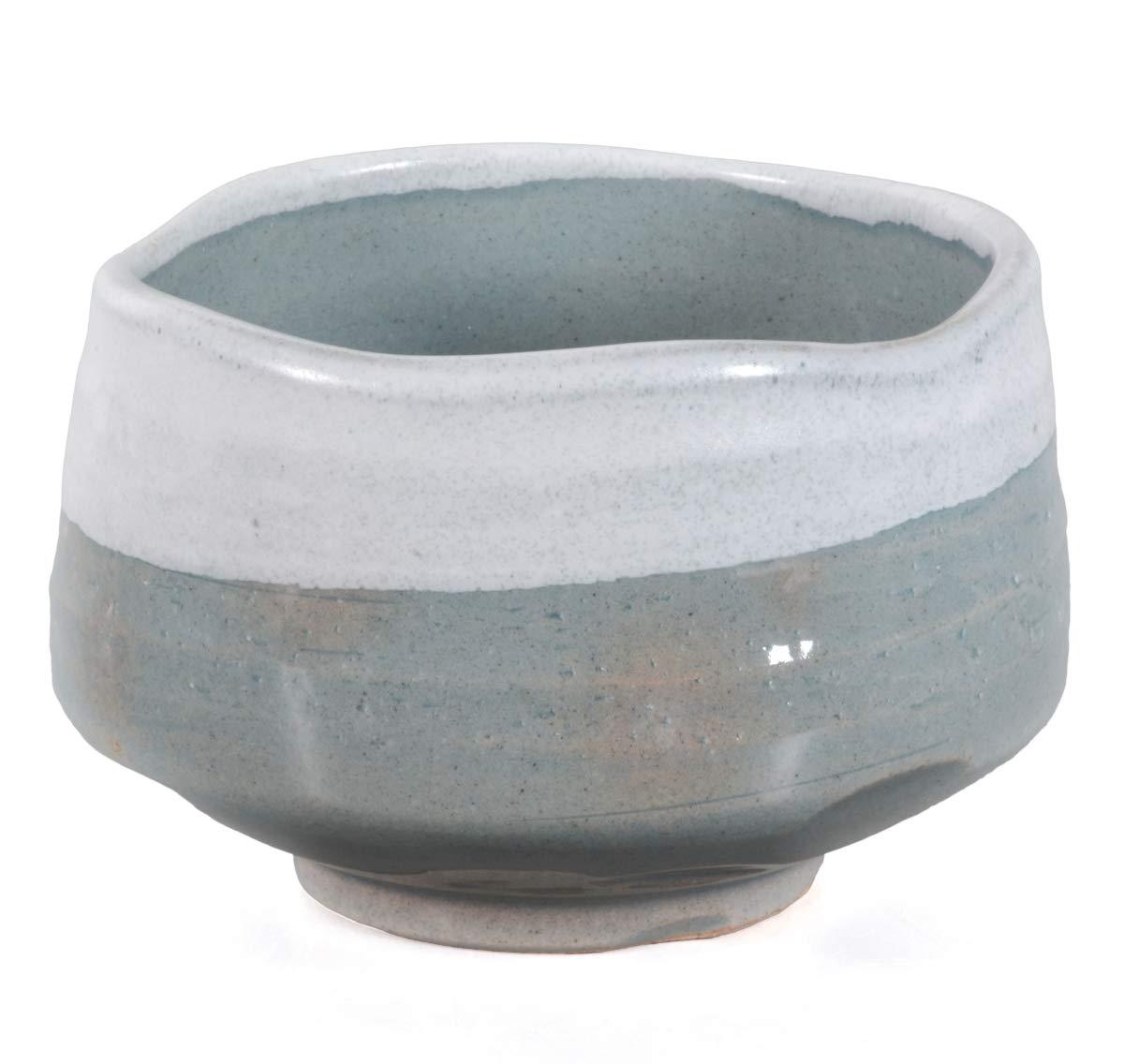 zekaano original Original Bol à matcha 500ml, fait à la main traditionnel japonais Ø 12,3cm Gris/Vert Aricola®