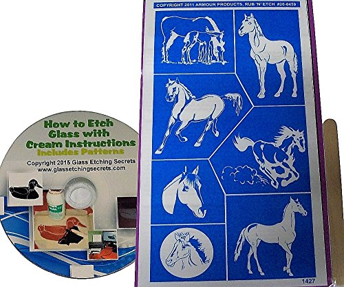 Horse Stencils, Animal & Ranch Patterns + How to Etch CD with Patterns