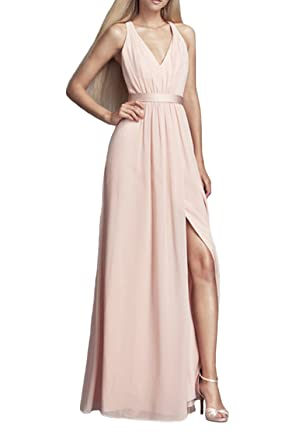 Leader of the Beauty Women Sleeveless Long Dress Sexy Backless Bridesmaid Dresses Prom Gown (UK