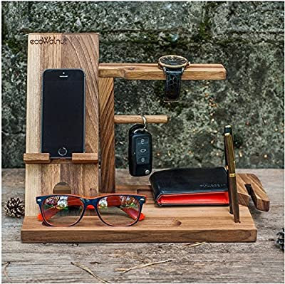 Office Desk Organizer Eco Wood Supply Caddy Phone holder / Pen Holder / Mail Holder / walnut wood best gift for Male organizer of the wood