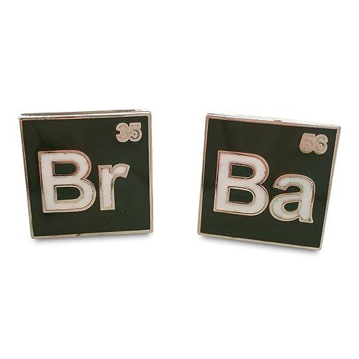 Amazon Br Ba Periodic Table Symbols Green And White Cufflinks