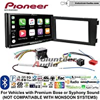 Volunteer Audio Pioneer AVH-W4400NEX Double Din Radio Install Kit with Wireless Apple CarPlay, Android Auto, Bluetooth Fits 2000-2008 Audi A6