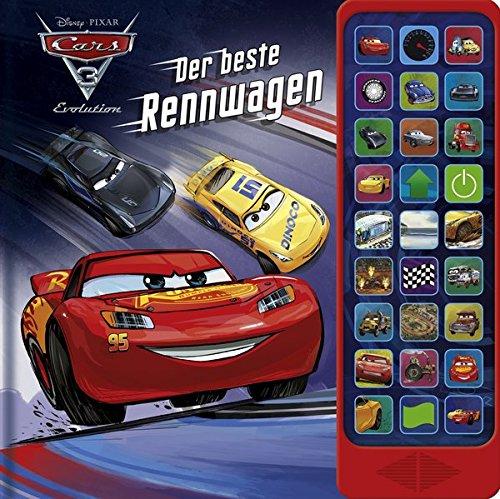 27-Button-Soundbuch - Cars 3 - Der Beste Rennwagen - Hardcover-Buch - 27 coole Geräusche zu dem Cars 3 Disney/Pixar-Film Gebundenes Buch – 12. Januar 2018 1503727548 empfohlenes Alter: ab 3 Jahre Bilderbuch (m. Soundeffekten) Bilderbücher: Menschen