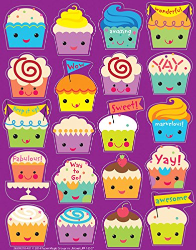 Eureka Cupcake Stickers, Scented (650921)