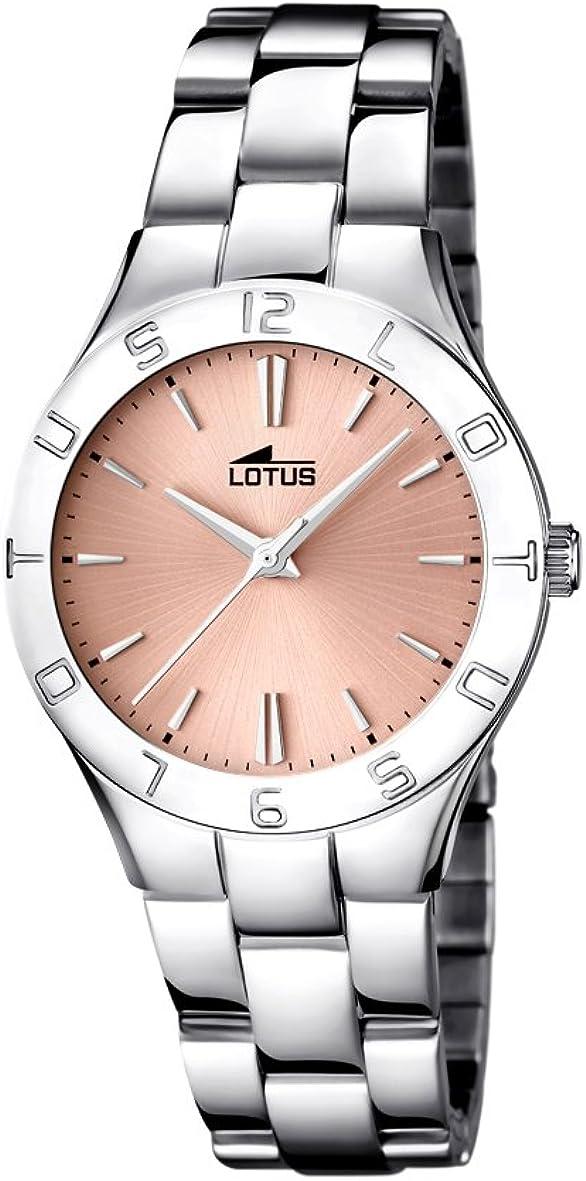 Lotus 15895/2 - Reloj de Cuarzo, Correa de Acero Inoxidable Color Plateado