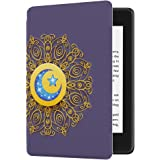 Huasiru Painting Case for All-New Kindle Paperwhite (10th Generation-2018 Only - Will Not fit Prior Generation Kindle Devices), Star and Moon Totem