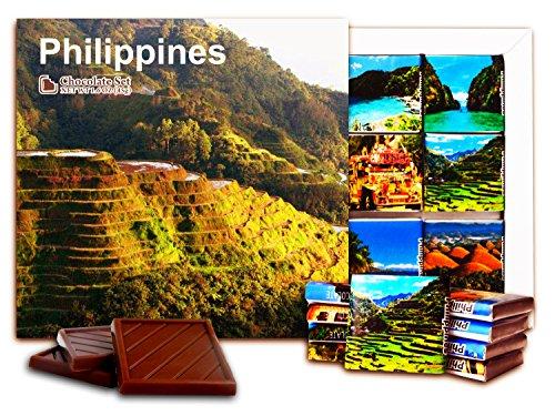 DA CHOCOLATE Candy Souvenir Philippines Chocolate Set 5x5 1 box (Fields)