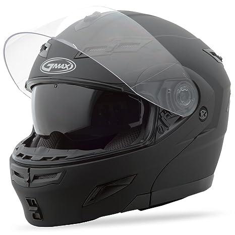 Gmax Unisex Adult GM54S Flat Black Modular Helmet 1540077