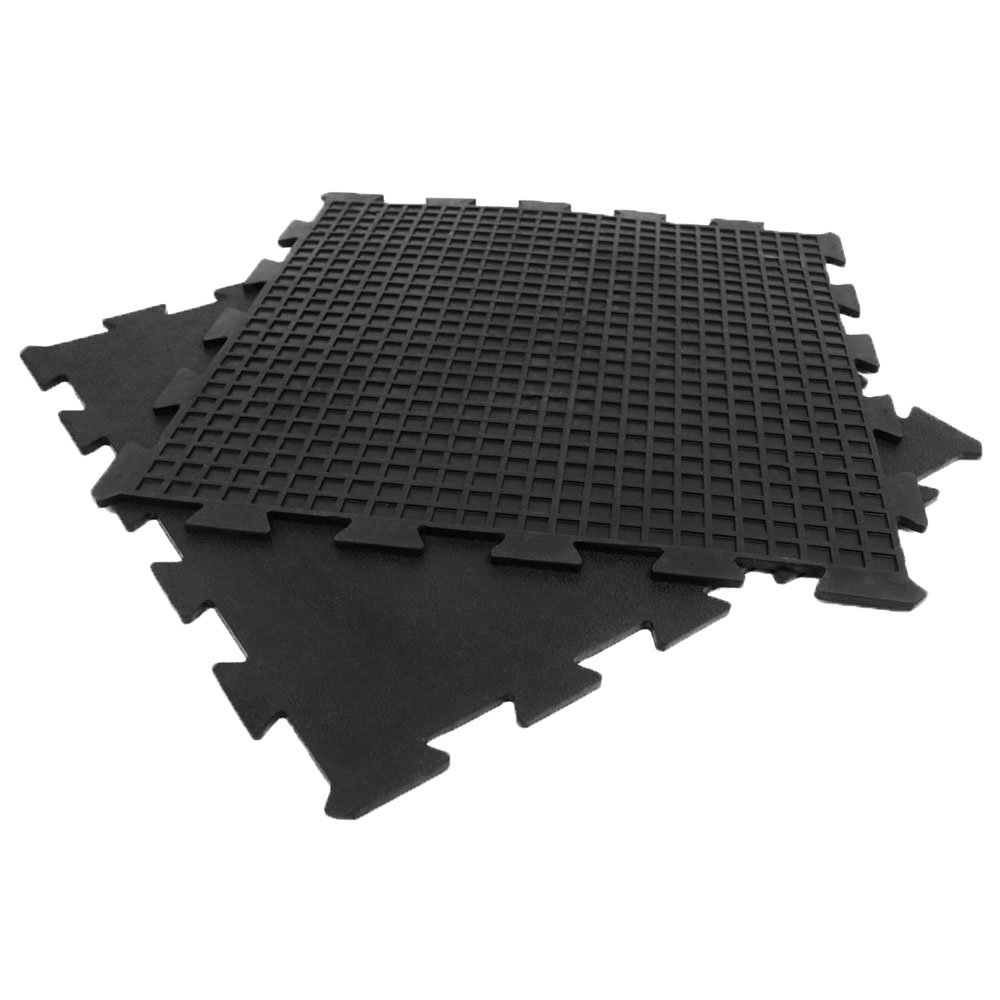Rubber mats gym interlocking - Amazon Com Rubber Cal Armor Lock Interlocking Rubber Mat 4 Pack Black 3 8 X 24 X 24 Inch Exercise Protective Flooring Sports Outdoors